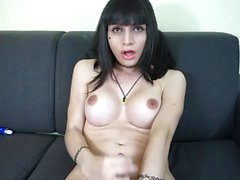 Luna solo play and big cum
