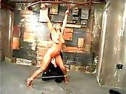 Black and ebony in bondage - Hard tied tits
