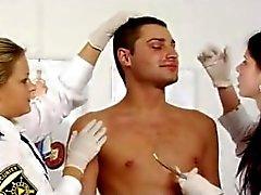 Rusya bir hemşire ve polis numunesini sperma çektiğiniz