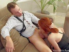 Redhead babe Ashley Graham fucks like pro