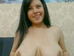 Busty latina masturbates on webcam