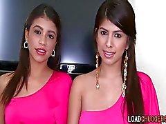 Gorgeous Latinas Take Turns Licking Pussy