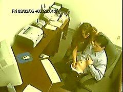 Slut Oficina masturba del trabajador del co CAM
