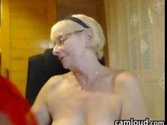 Topless Grandma Being A Tease