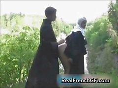 Slutty french nun fucked outside porno part4