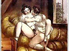 Gravuras eróticas Biedermeier de aço - Johann Nepomunk Geiger