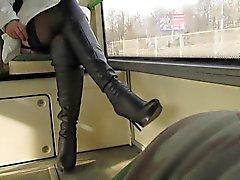 Flsshing kousen in een bus