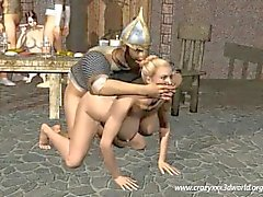Animation 3D: Le les Vikings Orgies