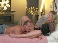 MOM Blonde MILF Worships The Cock