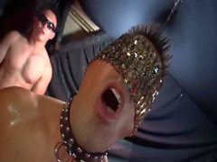 Big Muscle Japanese Man with tiny cock served 6 guys
