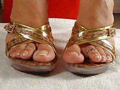 Spritzen zum ihre Füße