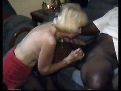schwarze blow job reife