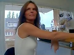 Horny German Mom in Kitchen