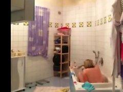 my chubby Mother on hidden camera