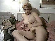 Indique vintage de amateur Son gros seins et velu arraché