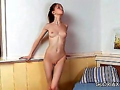 Sex doll Gloria opening her pink wet pussy in close-up
