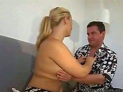 German Blonde Milf Sucks & Fucks
