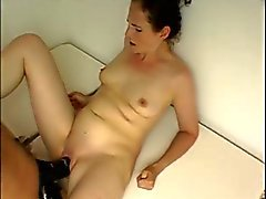 husband fucks wife with huge strap dildo