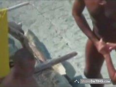 Nude Beach - Nice Bareback Threesome