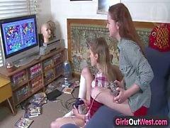 As meninas Out West - pintinhos lésbica australiano Cabeludo e de magricelas