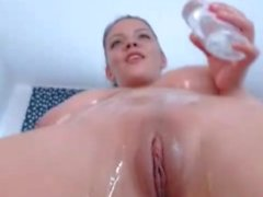 Lana Ivans oil teasing her strip body on cam