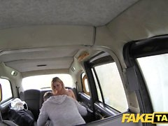 Fake Taxi huge natural tits on blonde model who rims the driver
