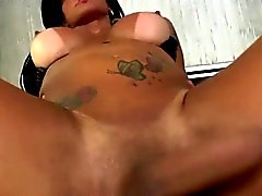 Latina transbabe Nathany gets ass humped