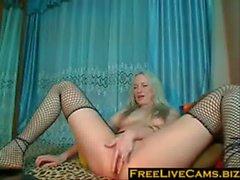 hot blonde webcam show