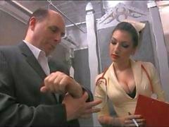 Nurse Cybill Sutures Cock into Pussy