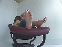 Mature female feet soles