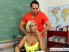 Very sexy teacher Bridgette B. fuck in classroom