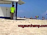voyeurchamp #Exhibitionist Ehegattin Nikki Brasilien Strand necken Sie