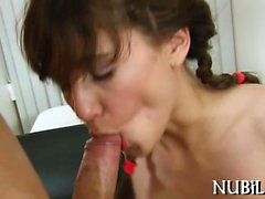 Pretty man is stuffing loving holes of wicked playgirl