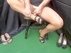Spermasprut Strumpor Foot Fetish Wichsen X45