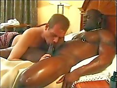 Black man gets head in hotel