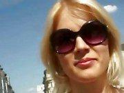 Petite amateur blonde babe public sex