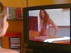 Eve Angel e pêssegos são meninas sexy da escola