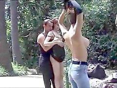 Französisch öffentlichen Sex im Park