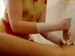 Latex NurseSexxxy prostate handjob gants chirurgicaux