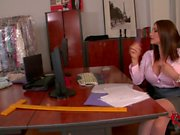 Big breasted office seductress Clanddi Jinkcego