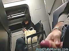 Flash on train with closeup cum