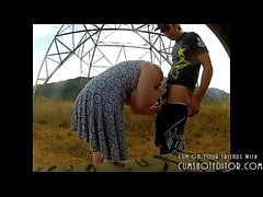 Russian MILF Sucking Cock In Public