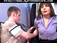 Russian Mom Rita Pleasuring Guy