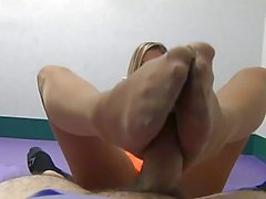 Pantyhose Foot Waitress POV