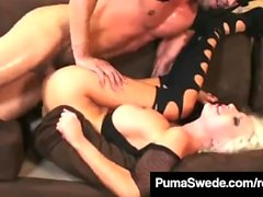 Geile Euro Hottie Puma Swede Ruft Cunt Pounded & Cummed On!