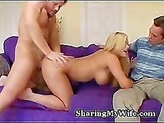 Face Hot Cum busty de la de Wifey