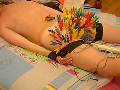 100 clothespins attach buttocks get her unusual pleasure