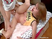 Cute blonde teen gets anal fucked hard part2
