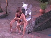 Stunning brazilian lesbian loves to ride her friend's face and play with a dildo
