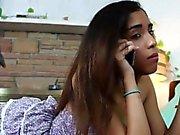 Ebony stepsister fingered